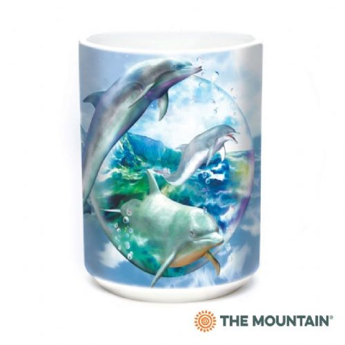 Dolphin Bubble Ceramic Mug | The Mountain®